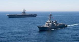 美國繼今年7月,第二次派軍艦航經台灣海峽範圍。(網上圖片)