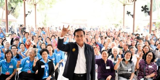 泰國選舉制度對具軍方背景的巴育非常有利,只要他取得下議院的25%選票就可確保其勝出選舉連任總理。(巴育個人Twitter圖片)