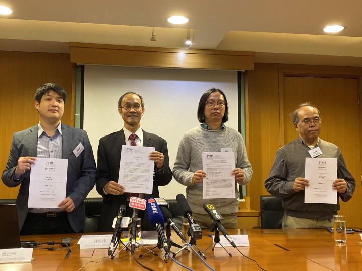 香港民意研究所的調查數據顯示,市民對警務處的最新滿意度評分為35.3分,是9個紀律部隊中得分最低。(盧佩琳攝)