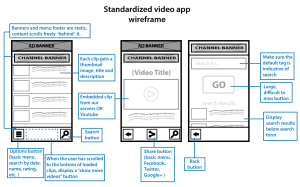 Versaly Video App wireframe