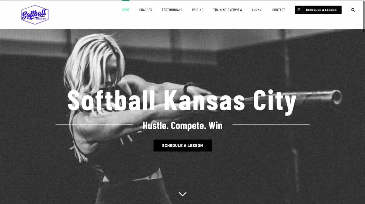 softball kc website design