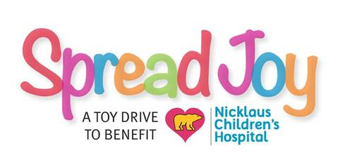 TOY DRIVE FOR PATIENTS AT NICKLAUS CHILDREN'S HOSPITAL