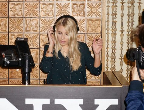 Mollie King of The Saturdays DJing at Sony's Xperia Z3 launch party