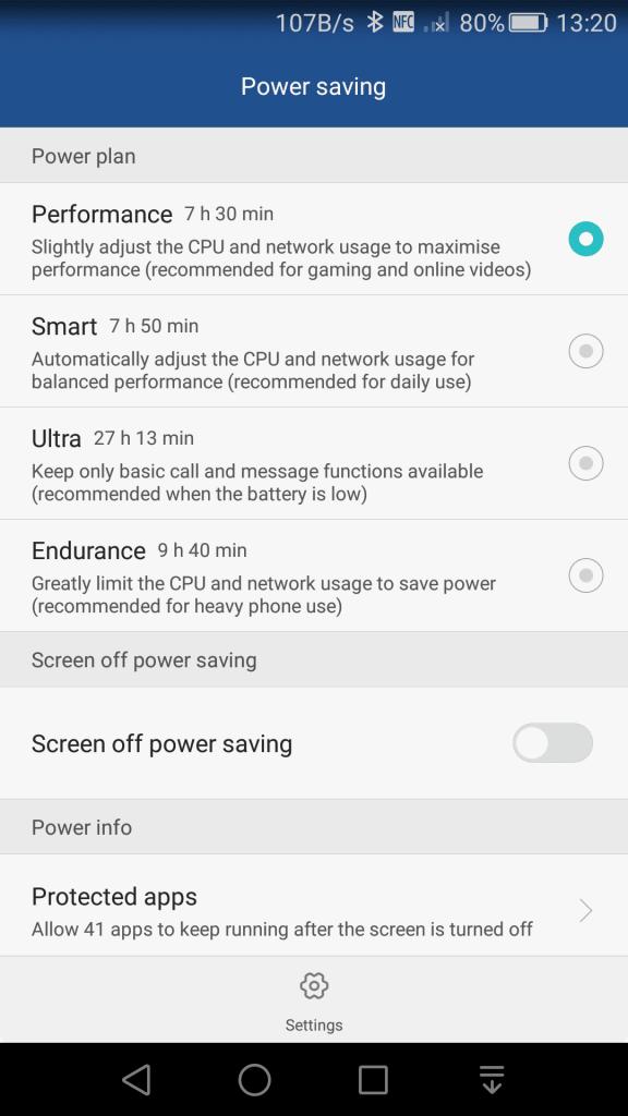 New power saving options - Endurance mode & Screen off power saving