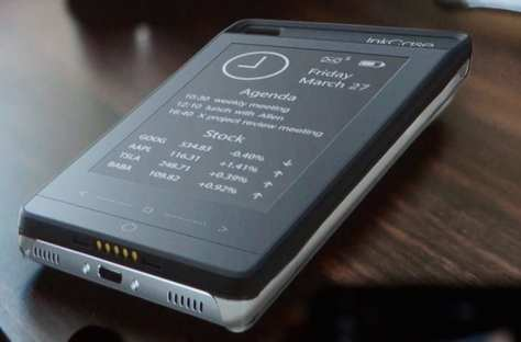 Optional e-Ink display lets you see key information without using the main display