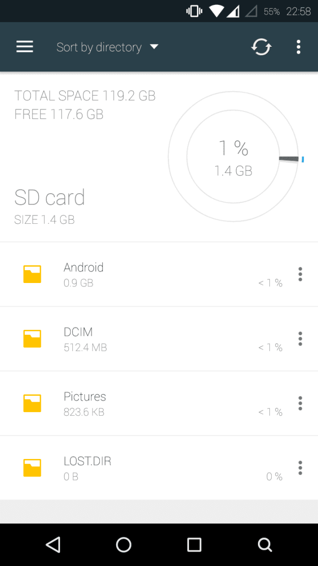 The Swift, just like the Moto G, supports cards larger than 32GB as stated