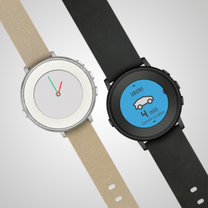 Pebble Round watches angled
