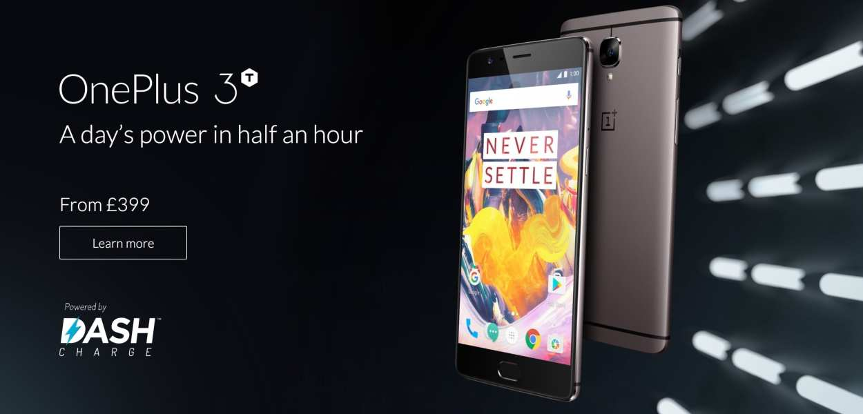 OnePlus 3T homepage capture