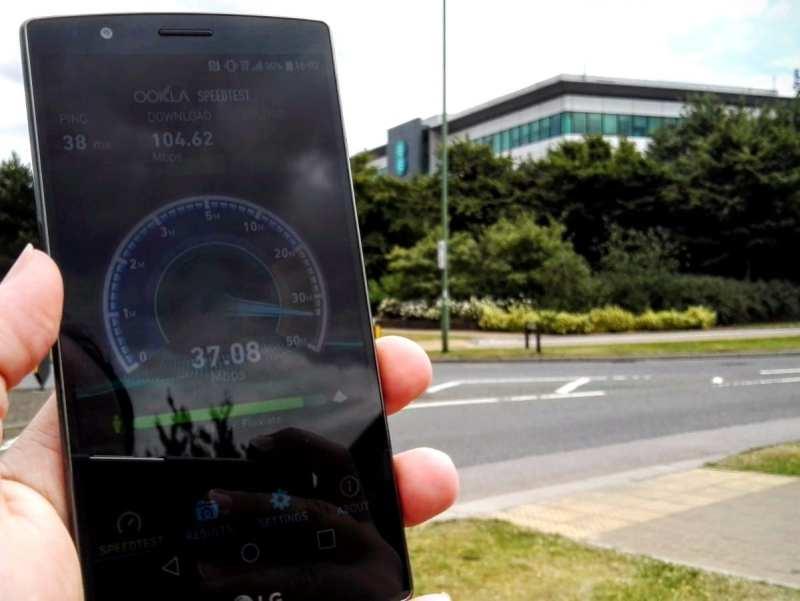EE Offices Speedtest