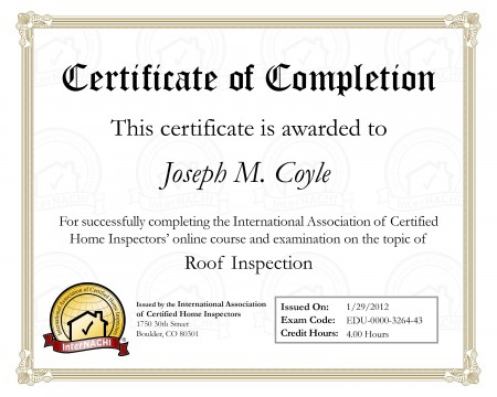 Certified Roof Inspections
