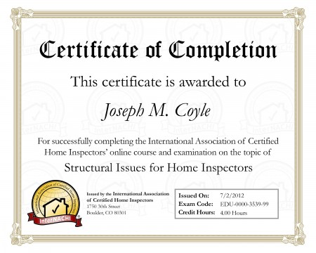 Certified Structural Inspector