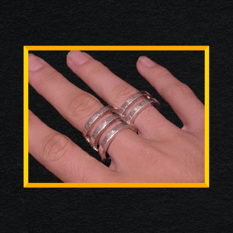 Silver hinged ring.