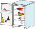 cartoon fridge