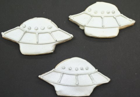 UFO Cookies by Michelle Edgar