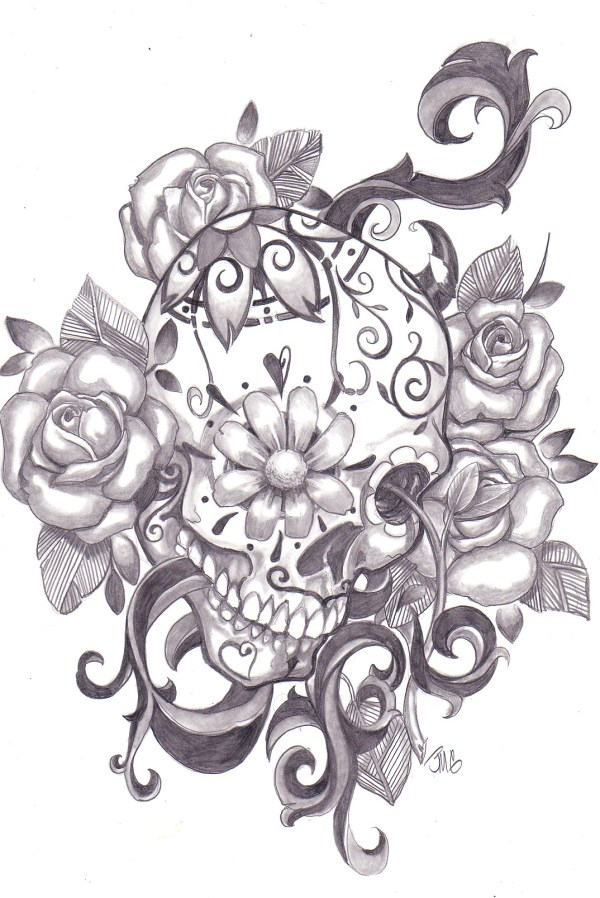 sugar skull design - inspiration