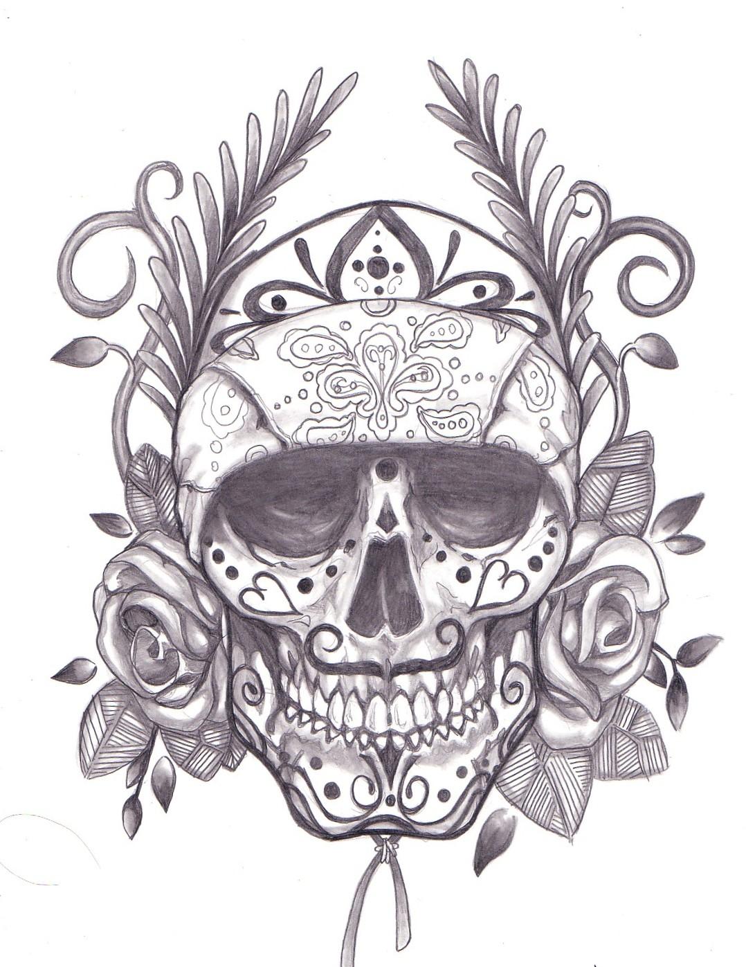 Another Sugar Skull Drawing