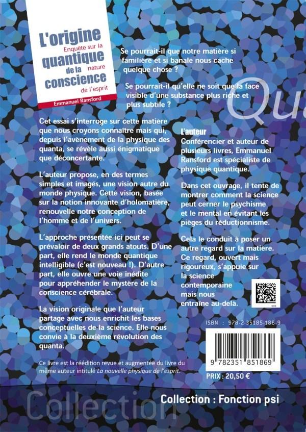 L'origine quantique de la conscience