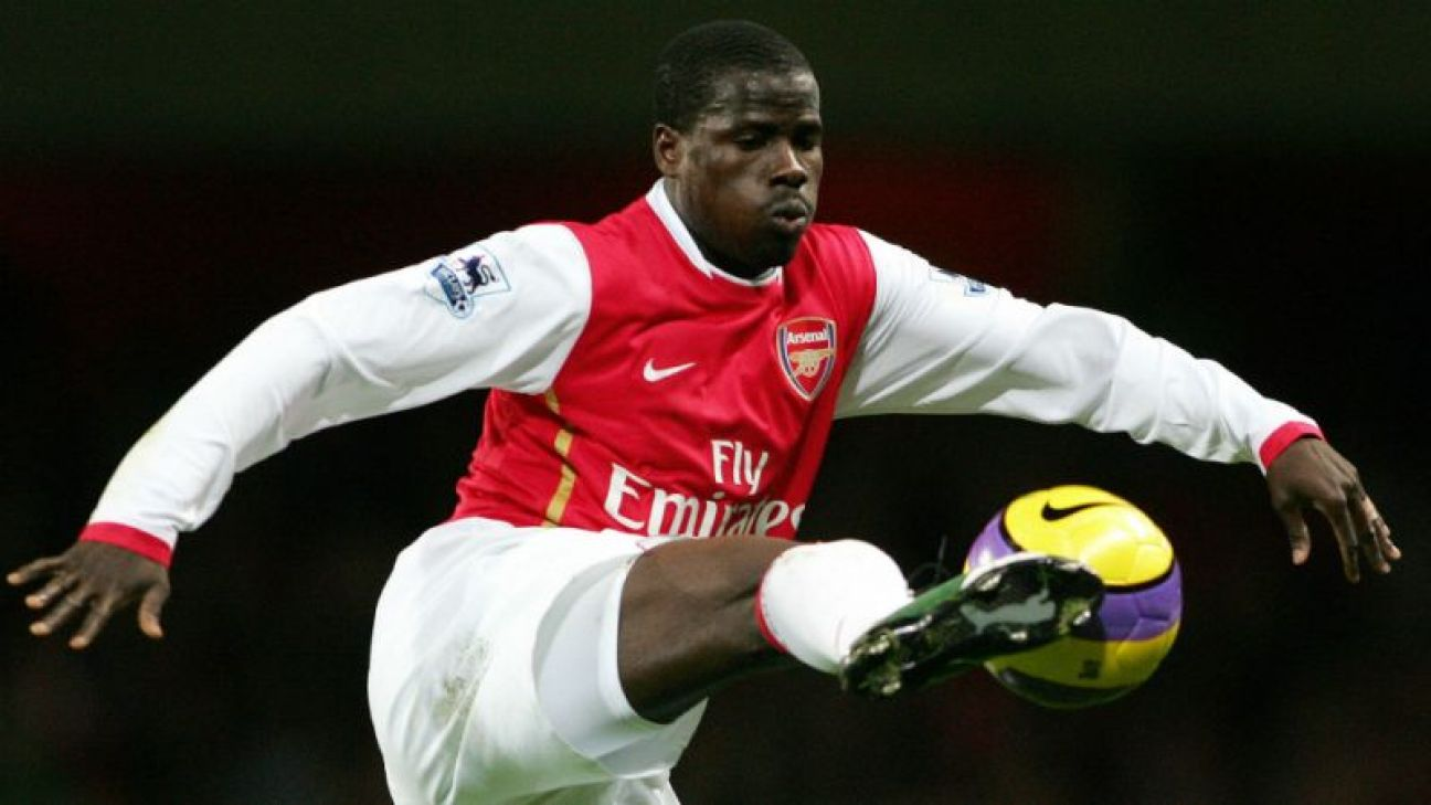Emmanuel Eboué jmg management with arsenal in action