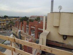 Hotel Centurión Levantamiento paredes de carga para forjado cubierta nueva planta