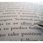 Effort underlined in book