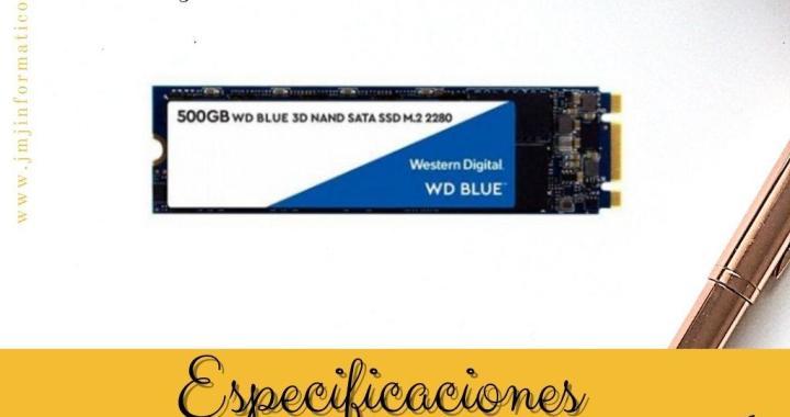 Especificaciones Disco Duro M2 500Gb WD Blue 3D NAND