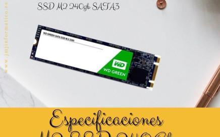 Especificaciones M2 SSD 240Gb WD Green Sata3