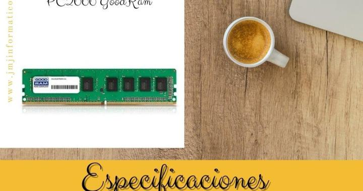 Especificaciones Memoria RAM DDR4 16gb PC2666 GoodRam