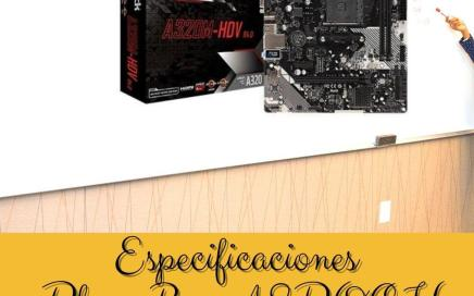 Especificaciones Placa Base ASROCK AM4 A320M-HDV R4.0