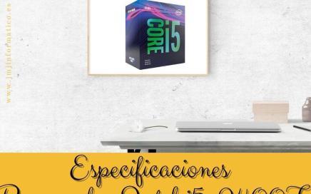Especificaciones Procesador Intel i5-9400F 6 x 2.9Ghz 9MB