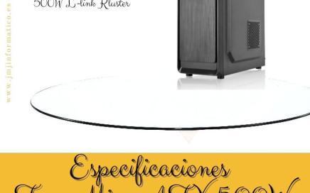 Especificaciones Torre Micro ATX 500W L-link Kluster