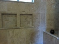 Travertine Tile Bathroom Remodel  JMJ Remodeling Experts