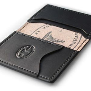 Men's leather pocket wallet