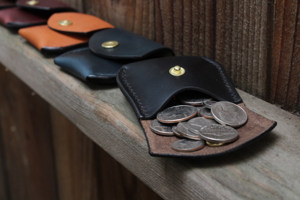 Mens leather change purse