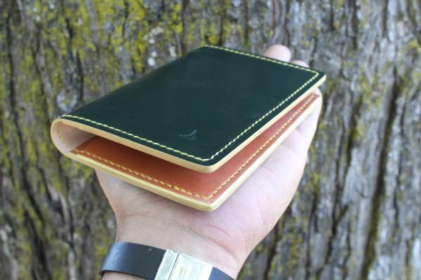 Custom leather passport case