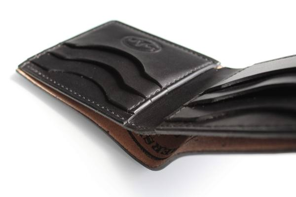 Handcrafted shell cordovan wallets