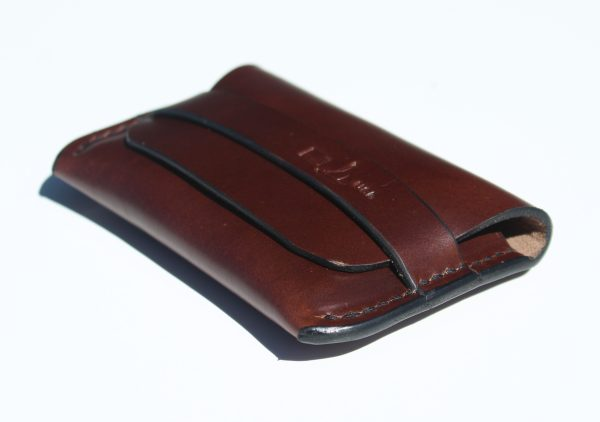 USA leather slim fold wallet