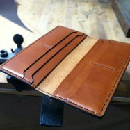 Luxury leather checkbook wallet