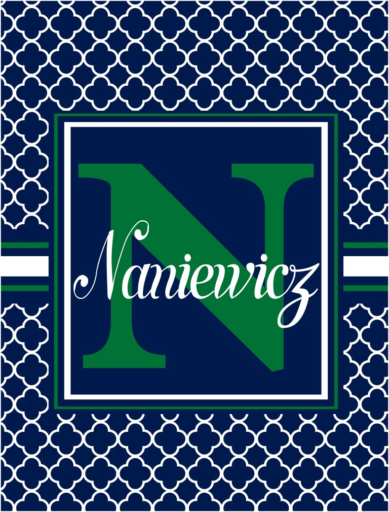 monogram navy flag