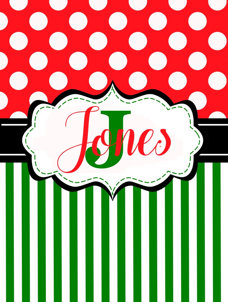 Christmas stripes and dots flag