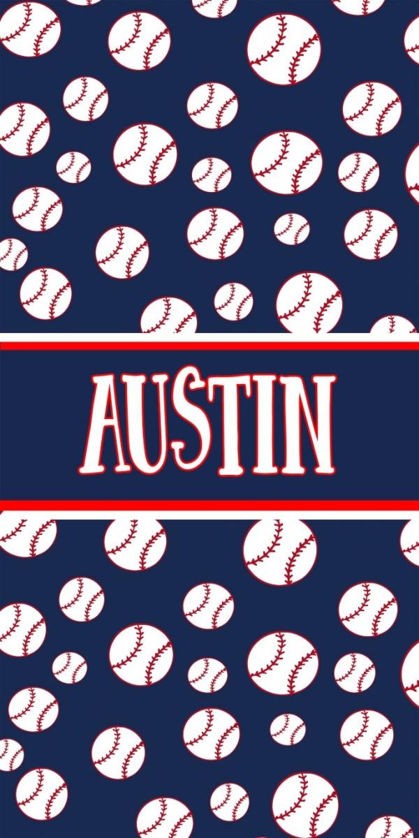 Baseball Background Beach Towel