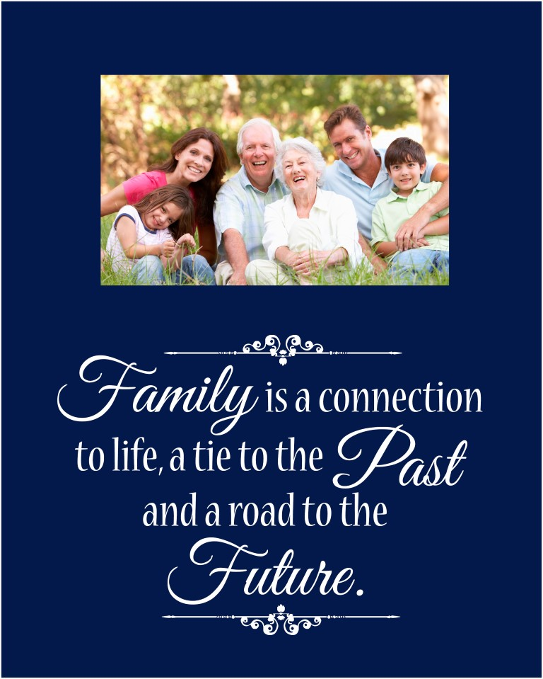 family offset picture frame