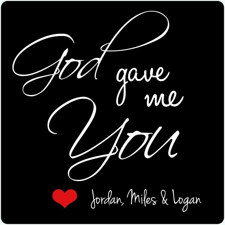 God Gave Me You Photo Plaque Jml Gifts