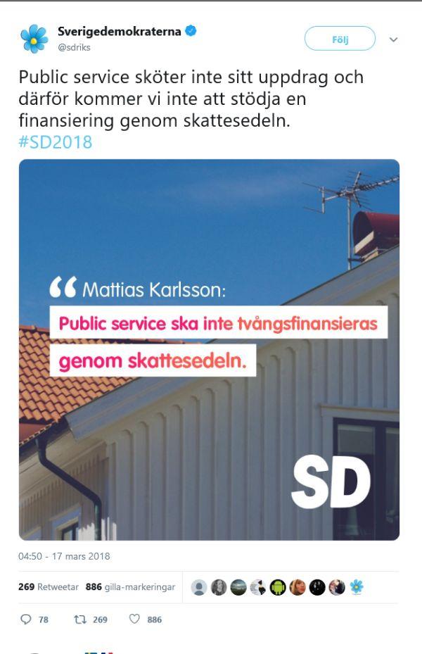 sverigedemokraterna_skattefinanseriad public service_tv avgift_