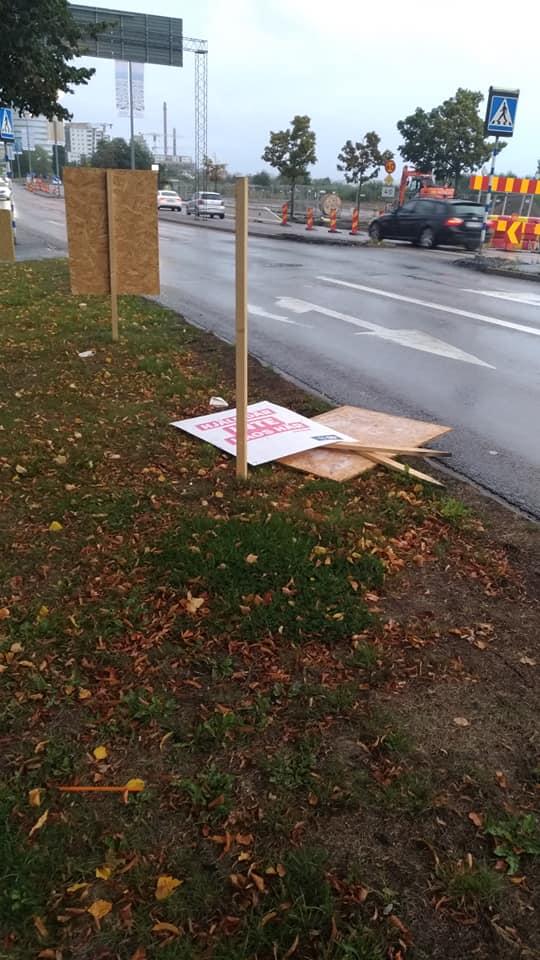 val2018_sverigedemokraterna_nedrivna affischer