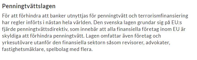 eu penningtvättdirektiv_bankernas frågor_kontranter