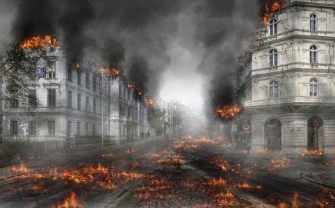 brinnande hus_klimatförändringarna_koldioxid