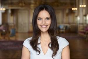 Sofia Hellqvist en el salón «Vita Havet» del Castillo Real de Estocolmo en abril 2015. (Foto Mattias Edwall - Kungahuset.se)