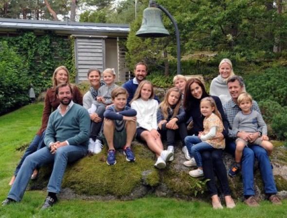 Los príncipes herederos de Noruega fueron los anfitriones de los príncipes herederos de Suecia, Dinamarca y Luxemburgo y sus hijos, en el encuentro celebrado en Mågerø. Foto Cortesía Casa Real de Noruega - Sven Gj. Gjeruldsen - PULSAR PARA AMPLIAR -