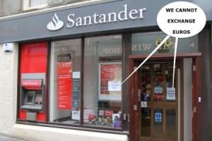 Oficina abierta al público de la filial del Banco de Santander en Lerwick, en las Islas Shetland. (Foto: © JM Noticias) - Pulsar para ampliar