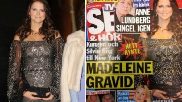 La revista «Se och Hör» asegura que la princesa Magdalena de Suecia está embarazada. (Foto: Captura portada y TV2)